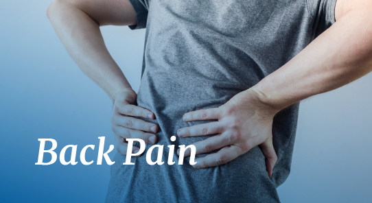 back pain relief at maps