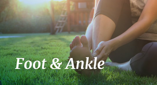 foot and ankle pain relief maps